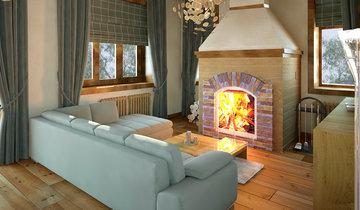 Отделка и интерьер дома в стиле шале
