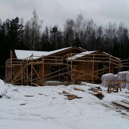 Завершены работы по устройству крыши и кровли и утепление и отделка фронтонов снаружи