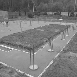 3 октября 2018   Уложили бетон