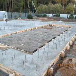 Уложили бетон