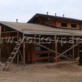 Завершены работы по устройству крыши. Вся крыша накрыта гидроизоляцией