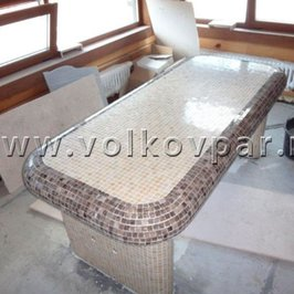 В комнате мыльного массажа завершаем изготовление  массажных столов