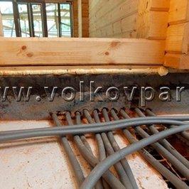 Ведутся работы по монтажу систем отопления и водоснабжения