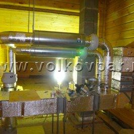 Заканчиваем обвязку одной приточной установки  системы вентиляции