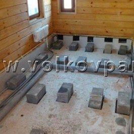 Готовим основания под лаги в помещениях с деревянными полами
