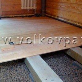 Укладываем  полы из лиственницы в помещениях с деревянными полами