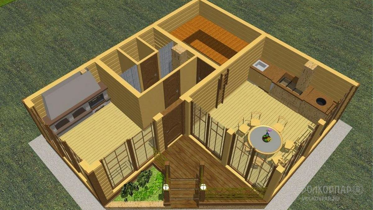 Проект бани. План расстановки мебели