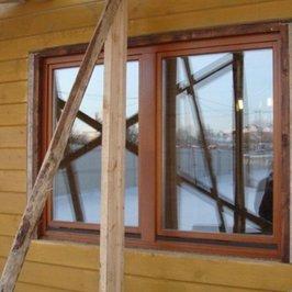 В деревянном доме устанавливаем деревянные окна на джутовое полотно