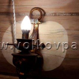 Фрагмент установки светильников