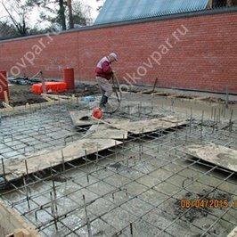 Производим заливку бетона