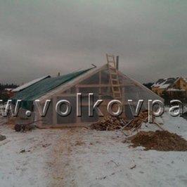 Установили тепляк для производства бетонных работ