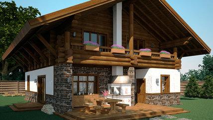 Дом ШАЛЕ с баней (261,41 м.кв)
