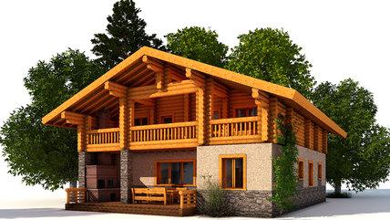 Дом ШАЛЕ на реке Воря
