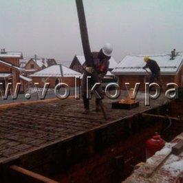 Процесс укладки бетона