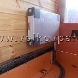 Установлены радиаторы и подключено отопление