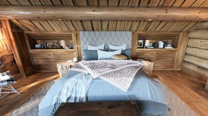 Спальня в рубленом доме