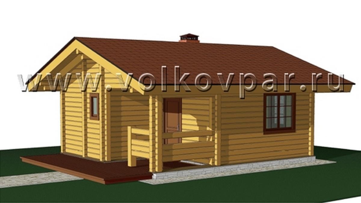 Банный дом с гаражом