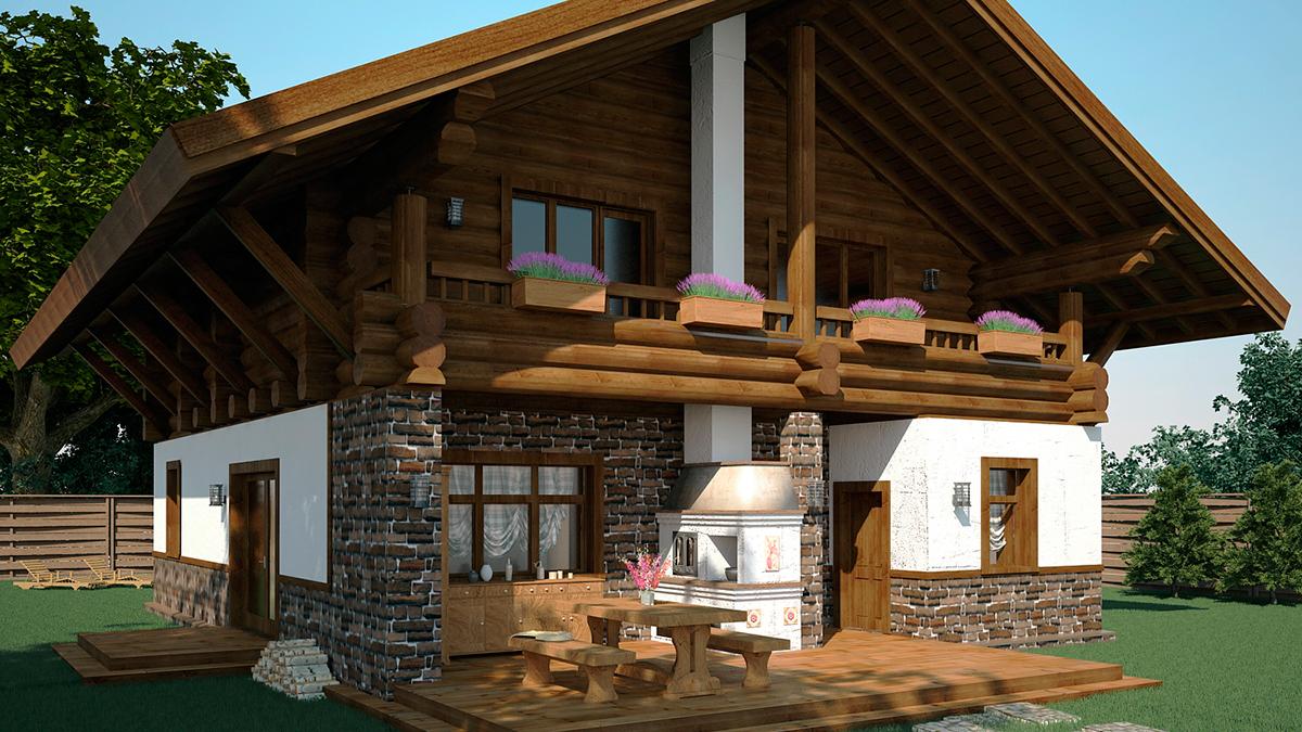 Дом ШАЛЕ с баней 292 м