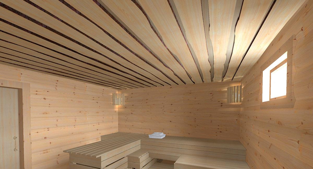 Как правильно сделать потолок в бане?