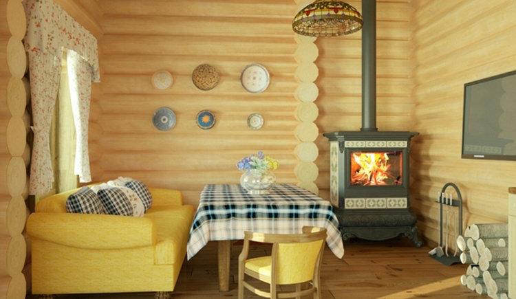 Дизайн и оформление комнаты отдыха в бане