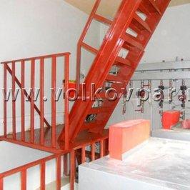 В помещении котельной изготовлена и смонтирована лестница на технический этаж