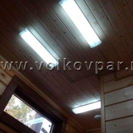 Смонтированы светильники в технических помещениях