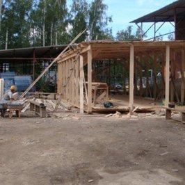 На строительной площадке