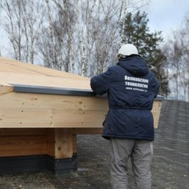 Установка капельника на край крыши