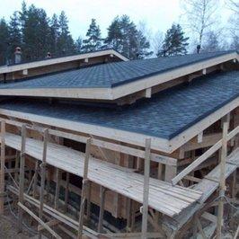 Завершены на 95% работы по устройству крыши и кровли