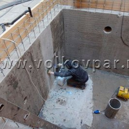 Грунтуем бетон для заливки римской лестницы