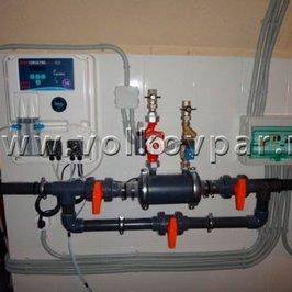 Смонтировано оборудование водоподготовки бассейна