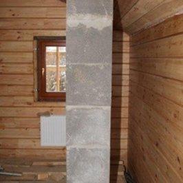Прохождение печной трубы через межэтажное перекрытие и крышу