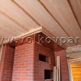 Завершены работы по отделке потолка в парной