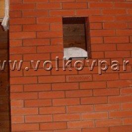 Сложена противопожарная стенка печного комплекса