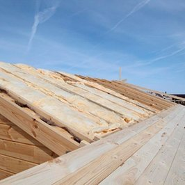 Фрагмент утепления крыши бани