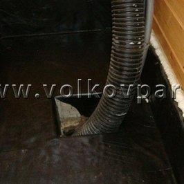 Выполнена гидроизоляция в бане