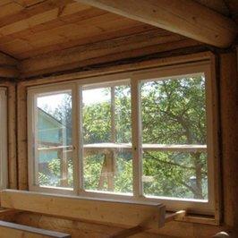 В доме установлены окна