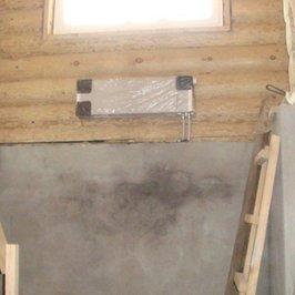 Монтаж настенных радиаторов в деревянной части дома