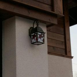 Монтируем  наружное фасадное освещение