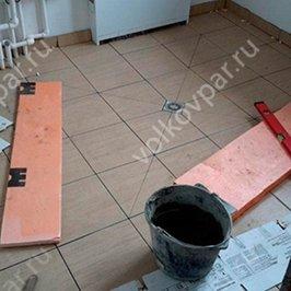 Утепление плиты и стяжка под плитку