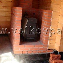 Установлена отопительная печь «огонь-батарея»