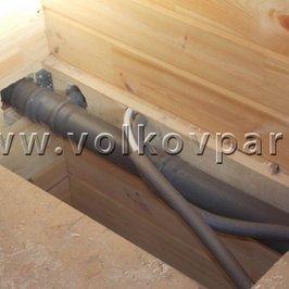Смонтированы водяные и канализационные трубопроводы второго этажа