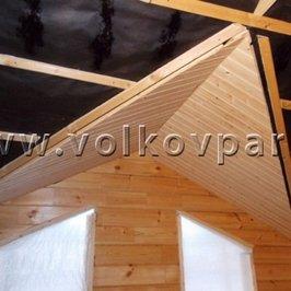 Подшиваем потолок второго этажа