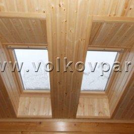 Закончена отделка потолка и мансардных окон на втором этаже