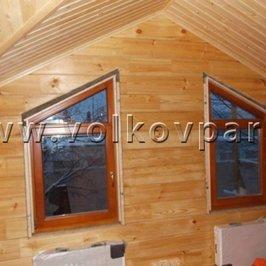 В банном доме установлены окна