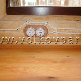 В доме установлены керамические розетки и выключатели